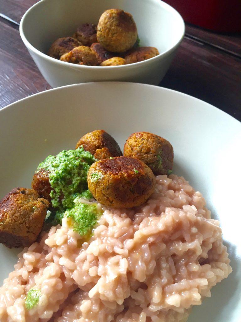 risotto-gemüsebällchen-pesto